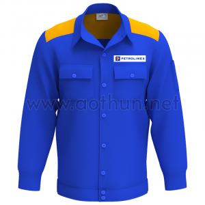Tự thiết kế áo bảo hộ lao động mẫu 1 Petrolimex
