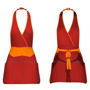 Tự thiết kế tạp dề đeo cổ dạng váy