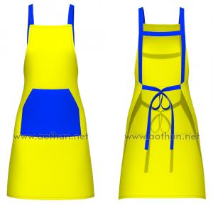 Tự thiết kế tạp dề đeo vai dây chữ H túi miệng xéo