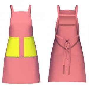 Tạp dề đeo vai chữ H 2 túi đứng preview